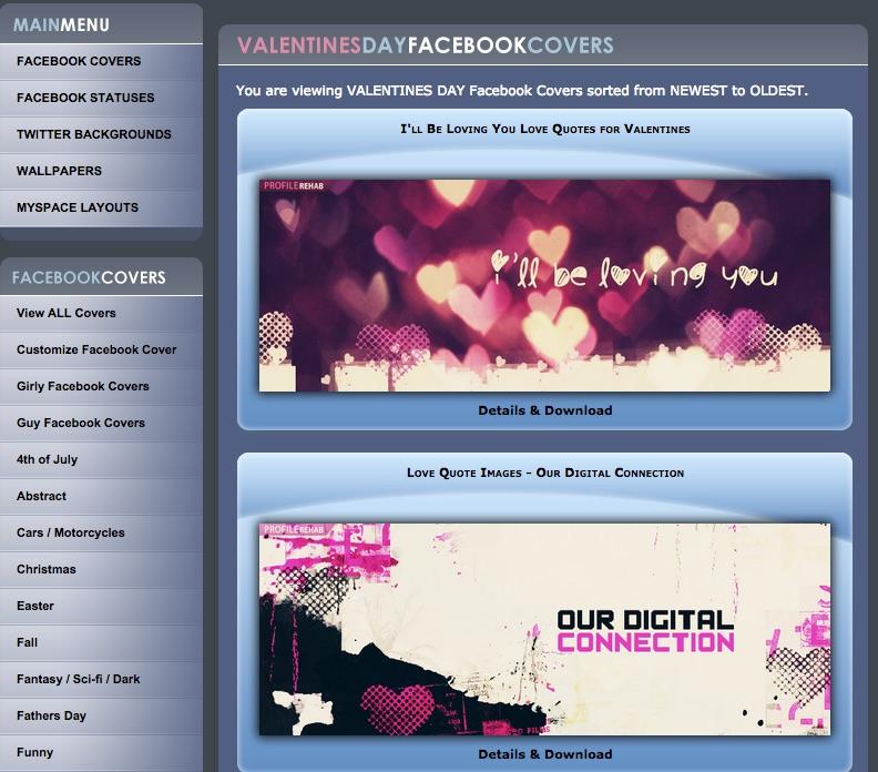 เปลี่ยน Facebook cover ต้อนรับวันวาเลนไทน์กันเถอะ